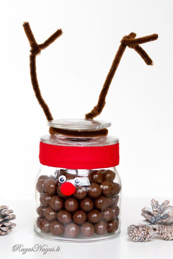 rudolfo saldainiai,dovana stiklainyje_RagaiNagai_Lt