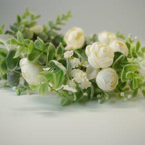 dirbtinių gėlių galvos vainikas